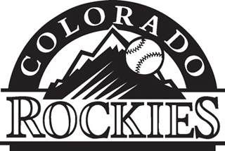 Colorado Rockies decal blk