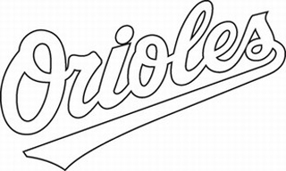 Baltimore Orioles decal