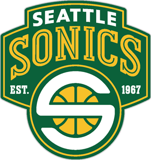 seattle sonics decal 99