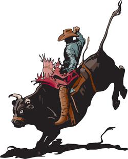 Rodeo Bull Rider 1