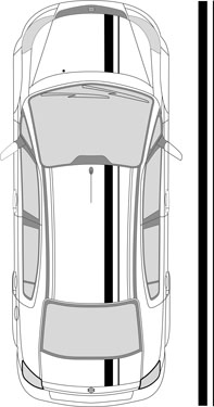 "6.5"" Dual Racing Stripes"