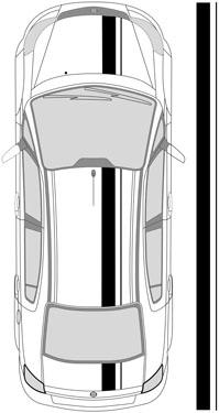 "8.5"" Dual Racing Stripes"