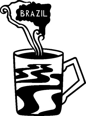 Brazil Coffee Cup Decal