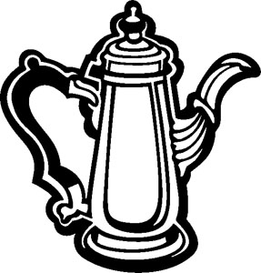 Antique Coffee Pot Decal