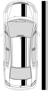 "10.75"" Dual Racing Stripes"