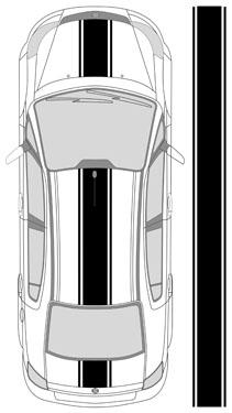 """15"""" triple rally stripe"""