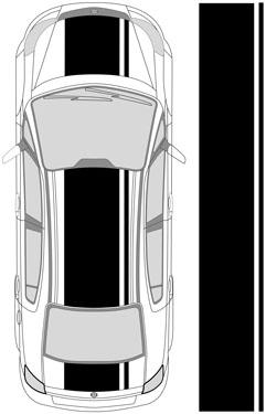 "28"" Dual Racing Stripes"