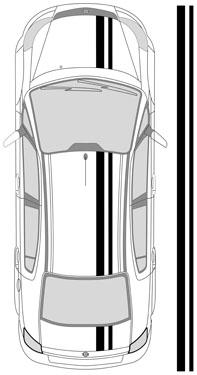 "8"" Dual Racing Stripes"