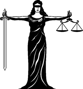 Female Goddess Of Justice