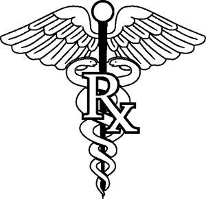 Pharmacy Symbol Decal