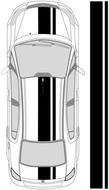 "17"" Dual Racing Stripes"