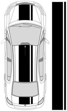 "23"" Dual Racing Stripes"