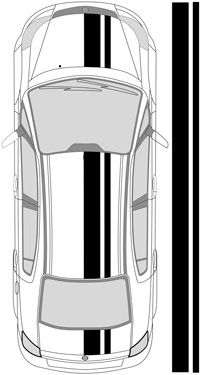 "13"" Dual Racing Stripes"