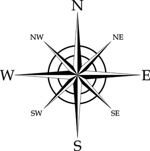 compass rose die cut decal