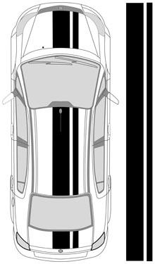 "18"" Dual Racing Stripes"
