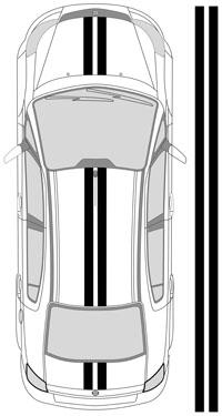 "10""_1 Dual Racing Stripes"