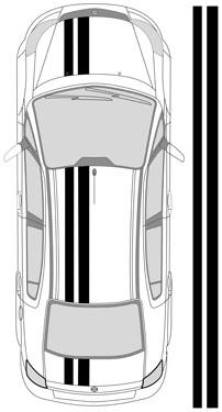 "11""_2 Dual Racing Stripes"