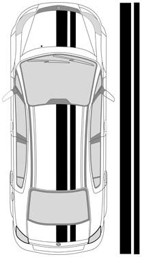 "14"" Dual Racing Stripes"