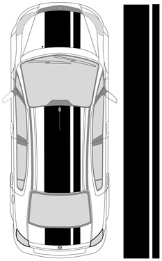 "25"" Dual Racing Stripes"
