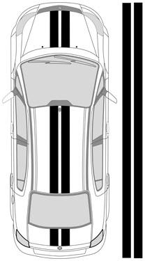 "14""_1 Dual Racing Stripes"