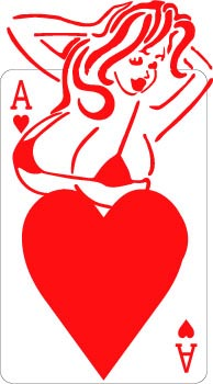 Ace of Hearts decal