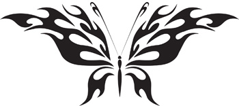 Tribal Butterfly 14