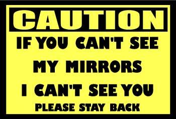 "Caution 12""x10""  Vinyl Decal"