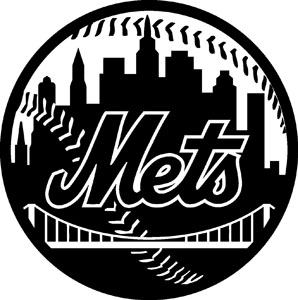 new york mets decal 96 blk