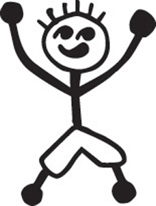 Stick Family Jumping Boy