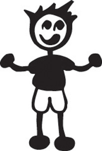 Stick Family Boy in Shorts