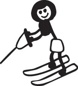 Stick Family Water Skiing