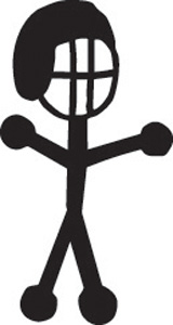 Stick Family Football Player