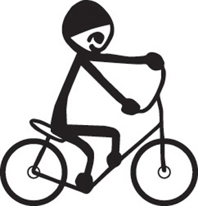 Stick Family Riding Bike