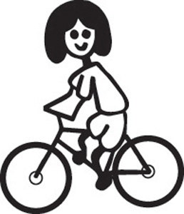 Girl On Bicycle