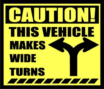 "CAUTION 10"" X 11.75"" VINYL DECAL"